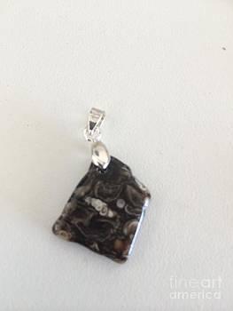 Turritella Agate Fossil Cabochon by Joseph Mora