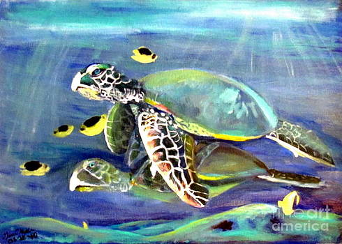 Turtle Duo by Gina Hyde