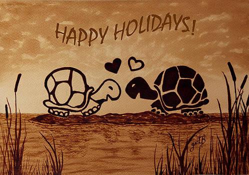 Turtle Greetings by Costinel Floricel