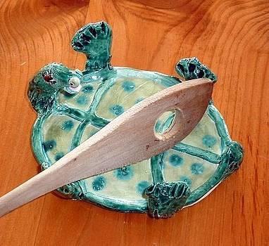 Turtle Spoon Rest Sculpture by Debbie Limoli