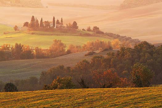 Tuscan Autumn Landscape by Greg Matchick
