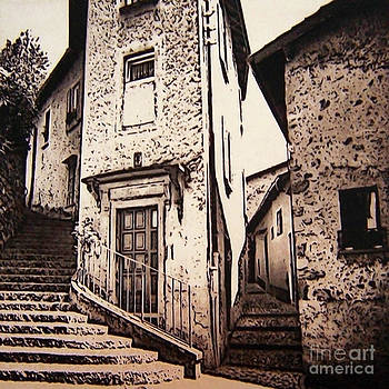 Tuscan Hill Town by Iris Posner