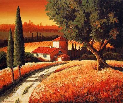 Tuscan Landscape by Santo De Vita