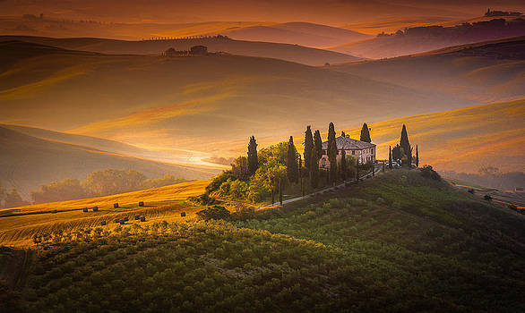 Tuscan morning by Stefano Termanini