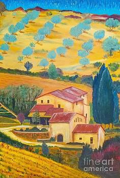 Tuscan Olive Farm by Frank Giordano