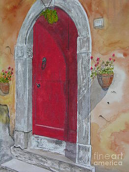 Tuscan Red Door by Peggy Dickerson