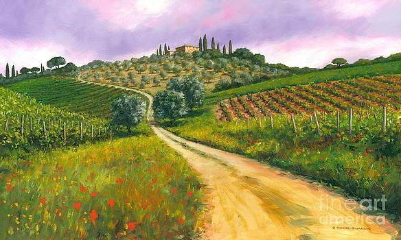 Tuscan road by Michael Swanson