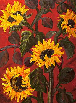 Tuscan Sunflowers by Anne Kibbe