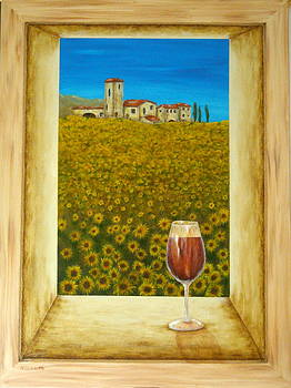 Tuscan View by Pamela Allegretto