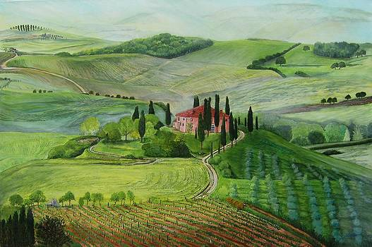 Tuscany Morning Mist by Connie Rowsell