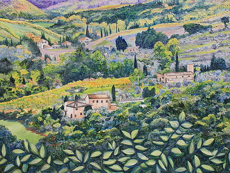 Tuscun wine  by Nedra Russ