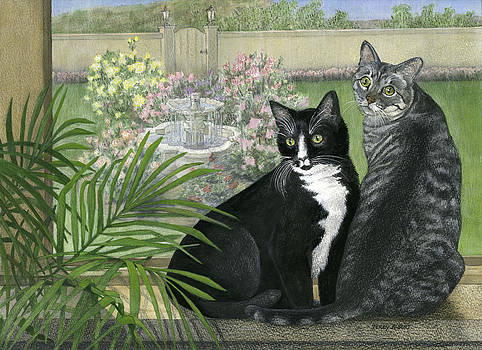 Tuxedo and Tabby by Terry Albert
