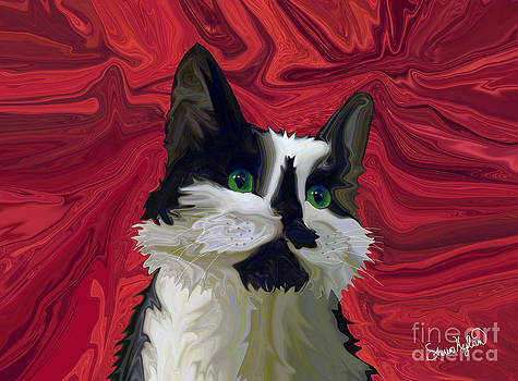 Tuxedo Cat Hits the Red Carpet by Sherin  Hylan