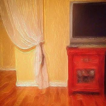 Tv And Drape by Paul Cutright