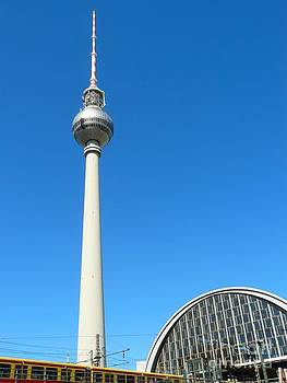 TV Tower in Berlin Germany by Gisela Scheffbuch