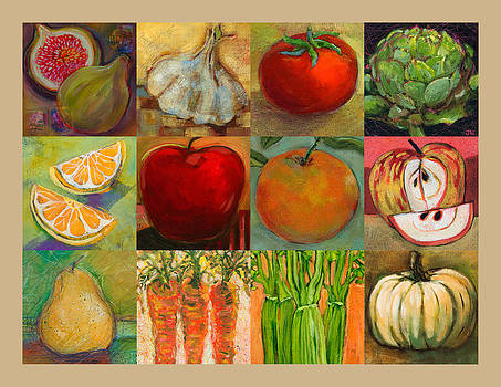 Twelve Colorful Foods Collage by Jen Norton