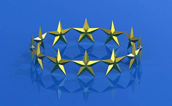 Twelve golden stars by Borislav Marinic