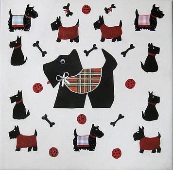 Twelve Scotties by Susan McLean Gray