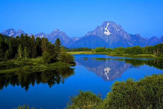 Randall Branham - Twilight Blue Mt Moran