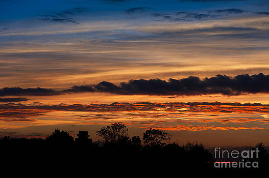 Twilight colorful sunset by Arletta Cwalina