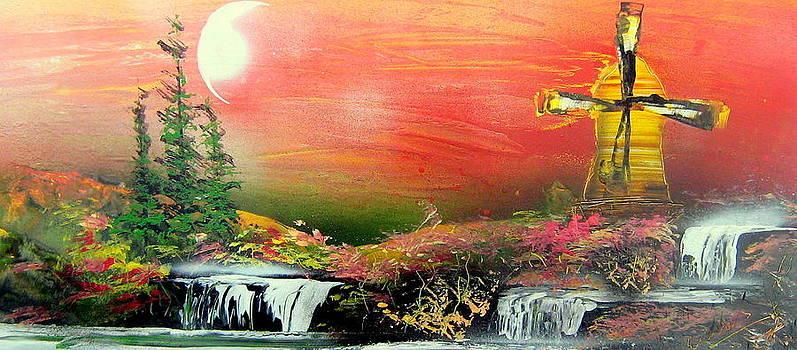 Twilight in galaxy by Evaldo Art
