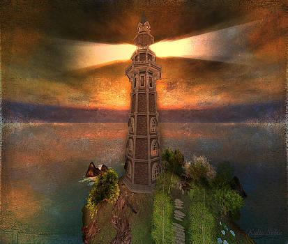 Twilight Lighthouse by Kylie Sabra
