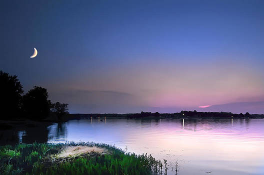 Randall Branham - Twilight moon lake pink n blue