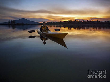 Twilight Paddle by Cheryl Wood