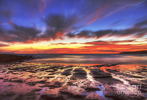 Twilight Reflections at Abalone Cove by Nick Carlson