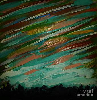 Twilight Sky Abstract by Marie Bulger