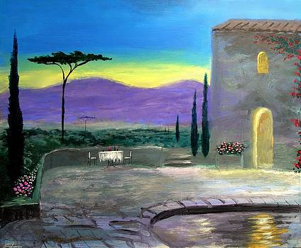 Twilight Tuscany by Larry Cirigliano