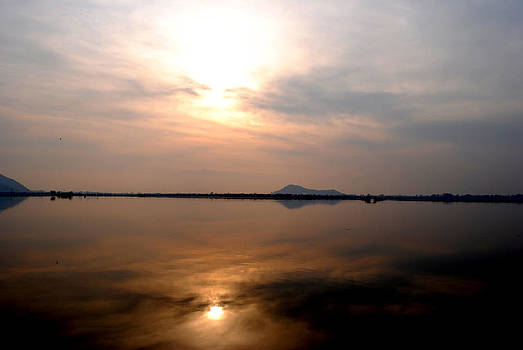 Twilight View Of Dal Lake- Kashmir- India- Viator's Agonism by Vijinder Singh
