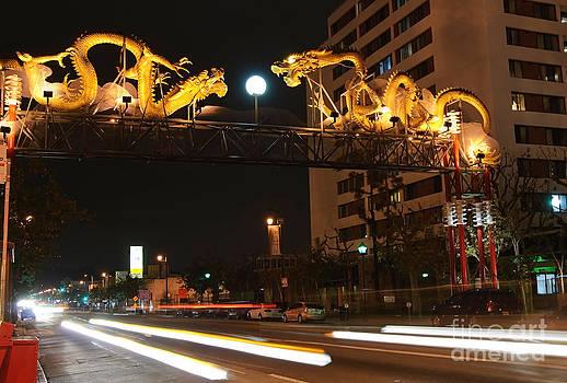 Jamie Pham - Twin Dragon Gate entrance to Los Angeles Chinatown