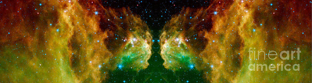 Twin Giants Abstract Space Art by Animated Sentiments