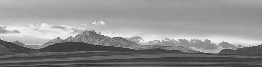 James BO  Insogna - Twin Peaks Panorama View from the Agriculture Plains BW