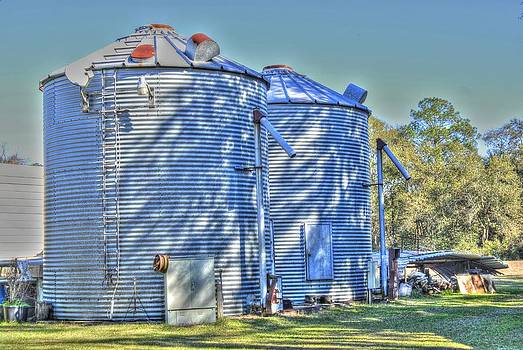 Twin Silos by Donald Williams