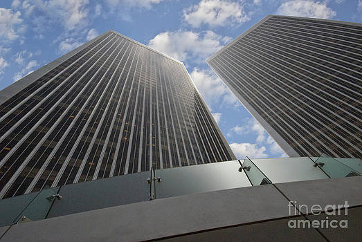 David Zanzinger - Twin Towers Century City CA Architectural Exterior Looking up