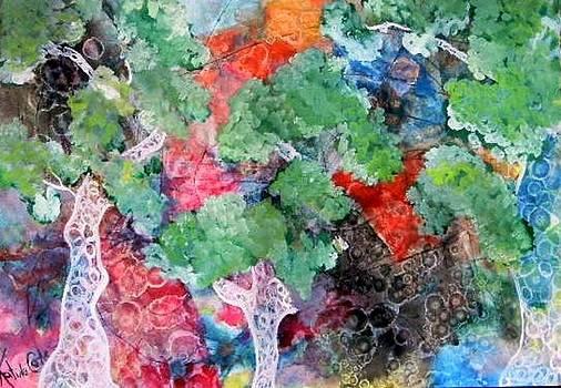 Twisted Trees 6 by Katina Cote