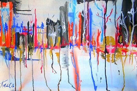 Twisted Trees 7 by Katina Cote