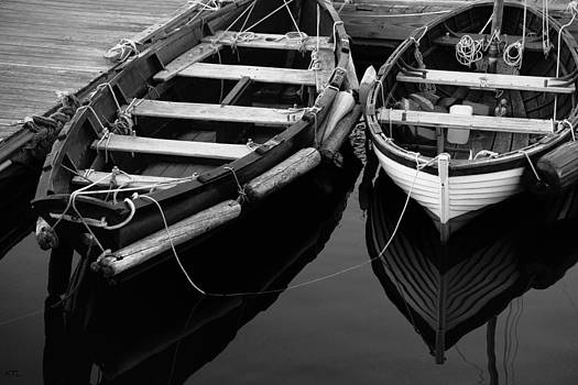 Two At Dock by Karol Livote