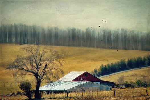 Two Barns by Kathy Jennings