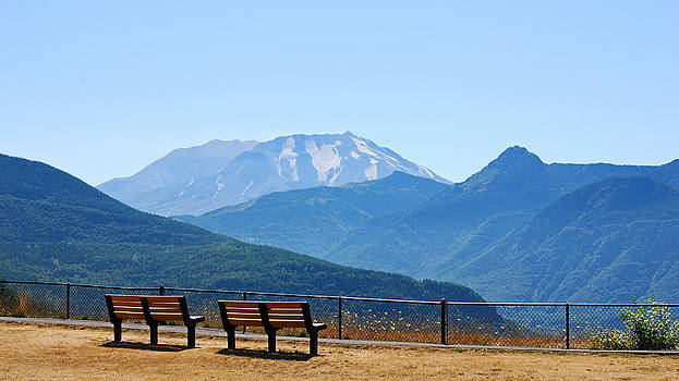 Connie Fox - Two Benches at Mount St. Helens