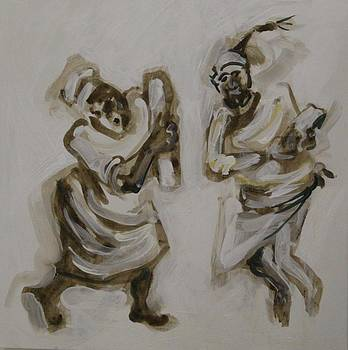 Two Berber Dancers by Michelle Inouchi