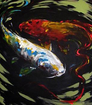 Two Big Koi Fish by Michael Leporati