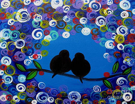 Two birds in love by Mariana Stauffer