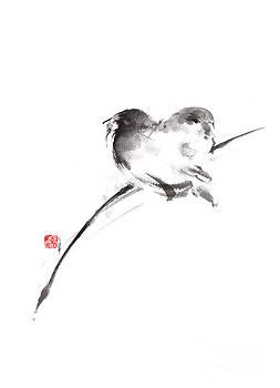 Two birds minimalism artwork. by Mariusz Szmerdt