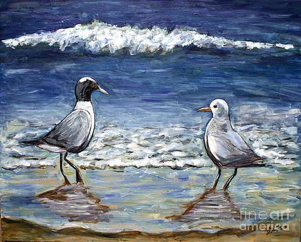 Two Birds with Foam by Jeanne Forsythe
