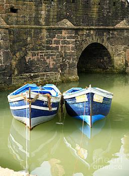 Deborah Benbrook - Two blue fishing boats
