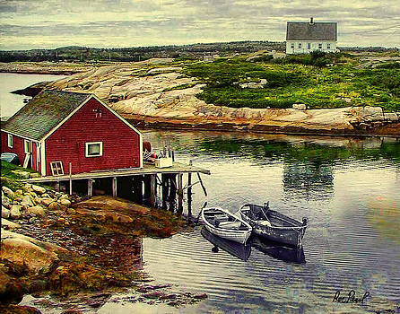 Two Boats at the Cove by Ron Pearl