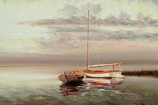 Two Boats by Jihong  Shi